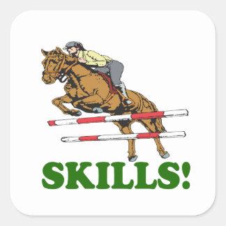 Skills 2 square sticker