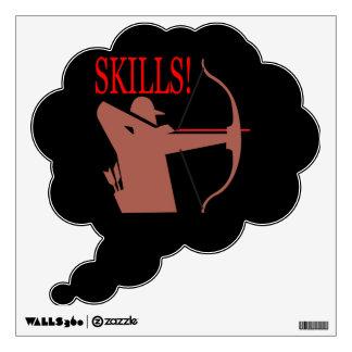 Skills 2 wall decal