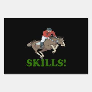 Skills 3 yard signs