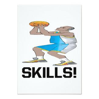 Skills 5x7 Paper Invitation Card