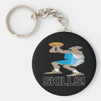Skills Basic Round Button Keychain