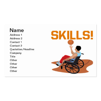 Skills Business Card Templates