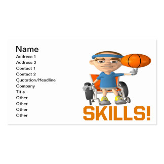 Skills Business Card Template