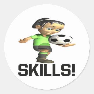 Skills Classic Round Sticker
