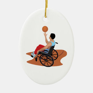 Skills Double-Sided Oval Ceramic Christmas Ornament
