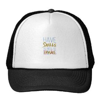 Skills Inspirational Motivational Typography. Trucker Hat