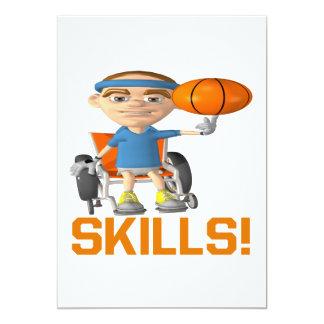 """Skills 5"""" X 7"""" Invitation Card"""