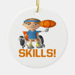 Skills Double-Sided Ceramic Round Christmas Ornament