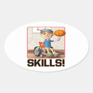 Skills Oval Sticker