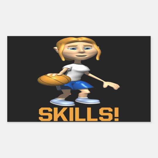 Skills Rectangular Sticker