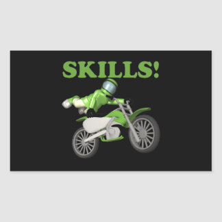 Skills Rectangular Sticker