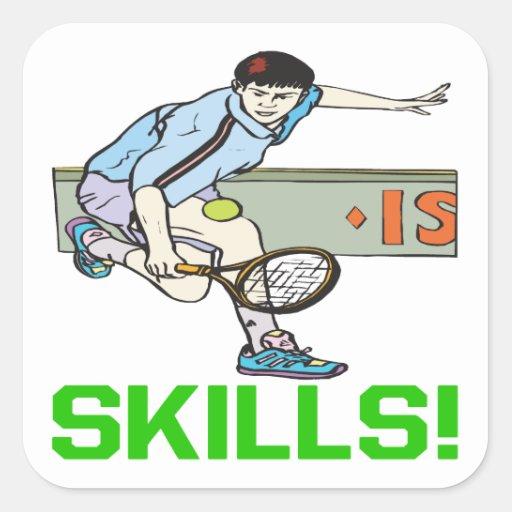 Skills Square Sticker