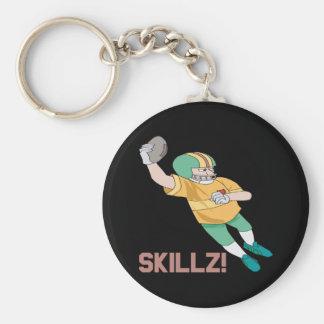 Skillz Basic Round Button Keychain