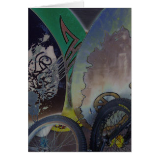 Skim boards and unicycles design card