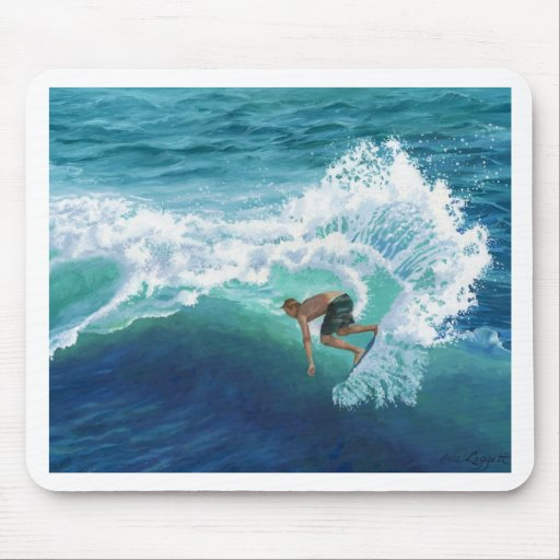 Skimboard Surfer Mousepad