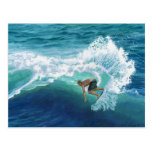 Skimboard Surfer Postcard