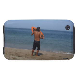 Skimboarder Contemplation Tough iPhone 3 Cover