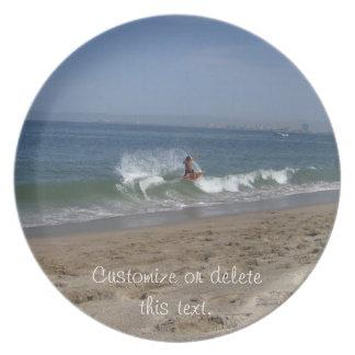 Skimboarder Success; Customizable Plate