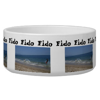 Skimboarders in the Surf; Customizable Bowl
