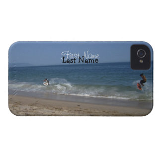 Skimboarders in the Surf; Customizable Case-Mate iPhone 4 Case