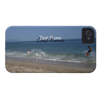 Skimboarders in the Surf; Customizable iPhone 4 Cover