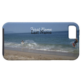 Skimboarders in the Surf; Customizable iPhone 5 Case