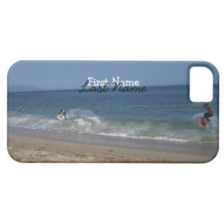 Skimboarders in the Surf; Customizable iPhone SE/5/5s Case