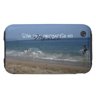 Skimboarders in the Surf; Mexico Souvenir iPhone 3 Tough Cover