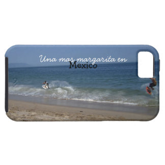 Skimboarders in the Surf; Mexico Souvenir iPhone SE/5/5s Case