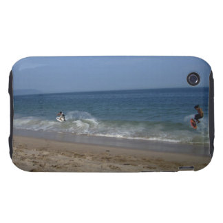 Skimboarders in the Surf Tough iPhone 3 Cover