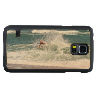 Skimboarding by Shirley Taylor Carved Maple Galaxy S5 Case