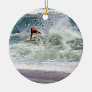 Skimboarding by Shirley Taylor Ceramic Ornament