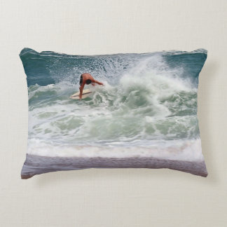 Skimboarding by Shirley Taylor Decorative Pillow
