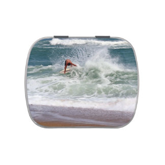 Skimboarding by Shirley Taylor Jelly Belly Candy Tin