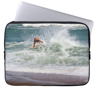 Skimboarding by Shirley Taylor Laptop Sleeve