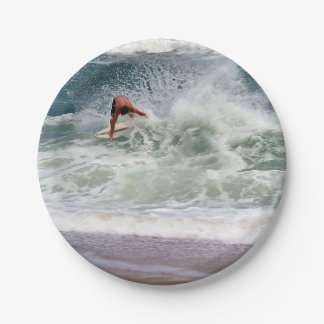 Skimboarding by Shirley Taylor Paper Plate