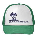 Skimcaribbean palm logo foamy hat