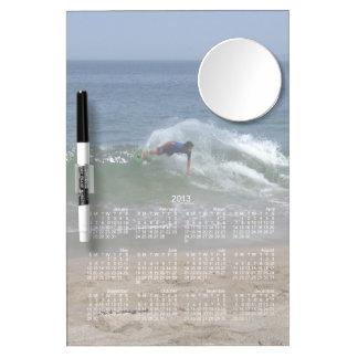 Skimmer Splash; 2013 Calendar Dry Erase Board With Mirror