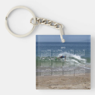 Skimmer Splash; 2013 Calendar Single-Sided Square Acrylic Keychain