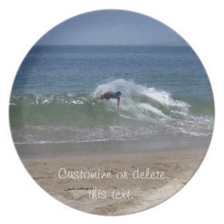 Skimmer Splash; Customizable Melamine Plate