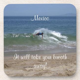 Skimmer Splash; Mexico Souvenir Beverage Coaster