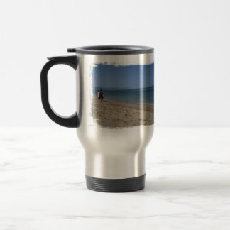 Skimmers Waiting for a Wave 15 Oz Stainless Steel Travel Mug