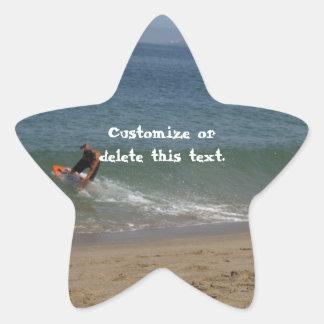 Skimming the Surf; Customizable Star Sticker