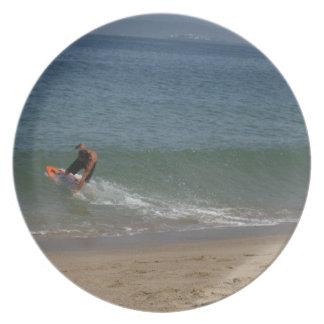 Skimming the Surf Melamine Plate