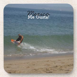 Skimming the Surf; Mexico Souvenir Beverage Coaster