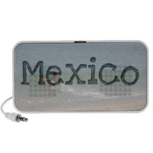 Skimming the Surf; Mexico Souvenir Portable Speaker
