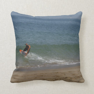 Skimming the Surf Throw Pillow