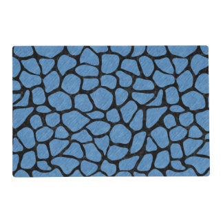 SKIN1 BLACK MARBLE & BLUE COLORED PENCIL PLACEMAT