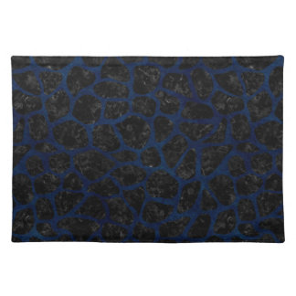 SKIN1 BLACK MARBLE & BLUE GRUNGE (R) CLOTH PLACEMAT