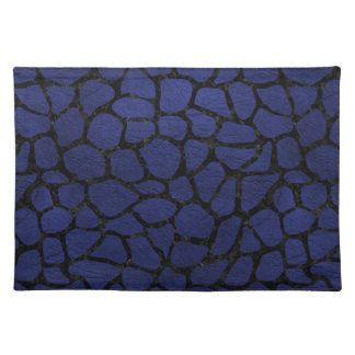SKIN1 BLACK MARBLE & BLUE LEATHER PLACEMAT